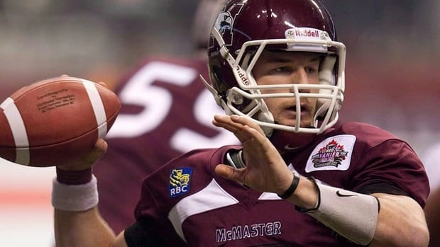 McMaster Marauders star quarterback Kyle Quinlan won the 2012 Hec Crighton Trophy as the top player in Canadian university football.