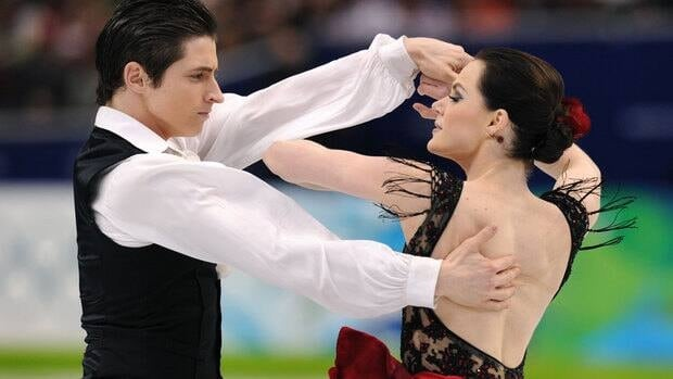 Tessa Virtue, right, and Scott Moir also added a Spanish flavour to their skating at the 2010 Olympics in Vancouver, where they won the gold medal.