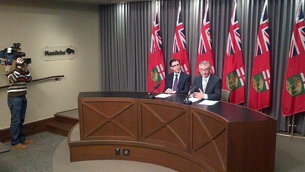 Manitoba Finance Minister Stan Struthers announces the sale of the property registry.