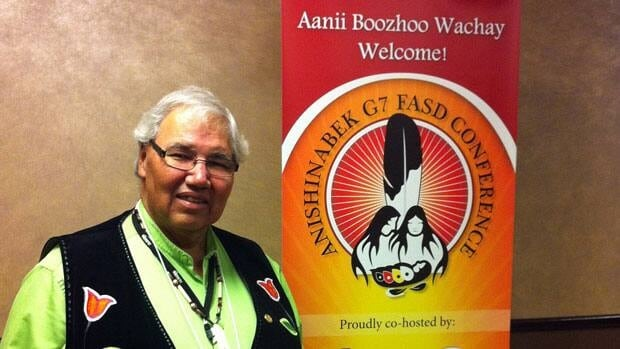 Justice Murray Sinclair was one of the keynote speakers at the fetal alcohol spectrum disorder conference held in Sudbury this week.  Hilary Duff/CBC