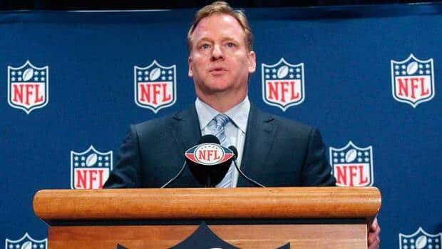 NFL commissioner Roger Goodell suspended New Orleans Saints linebacker Jonathan Vilma for the season.