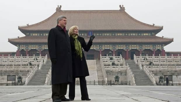 Canadian oil exports will be on the agenda as Prime Minister Stephen Harper leaves for China Monday afternoon. A delegation travelling with Harper, Natural Resources Minister Joe Oliver and other cabinet ministers includes eight mining or oil and gas companies.