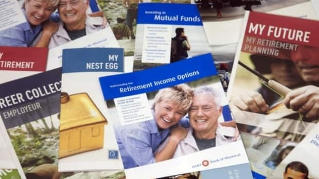 Brochures offering various retirement savings options. Financial advisers recommend contributing to both a registered retirement savings plan and a tax-free savings account but only 26 per cent of those eligible contributed to an RRSP in 2010, and about 20 per cent of Canadians have opened a TFSA to date.