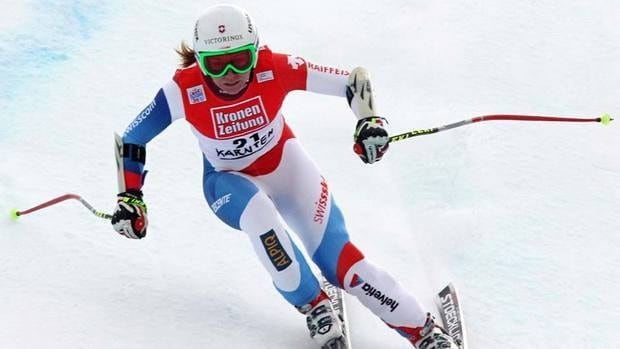Fabienne Suter earned her fourth career World Cup victory Sunday in Bad Kleinkirchheim, Austria.