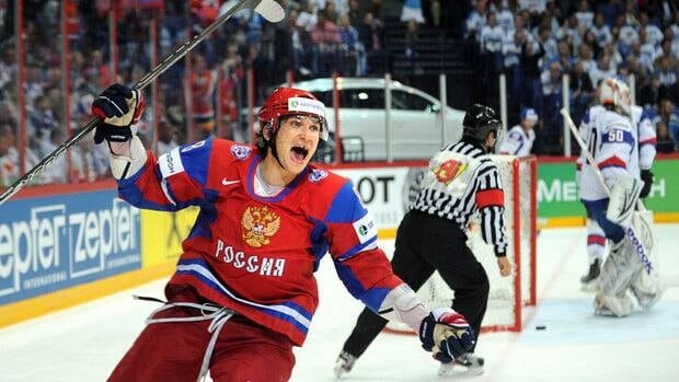 Alex Ovechkin, who was born in Moscow, helped Russia win gold at this year's world championship.