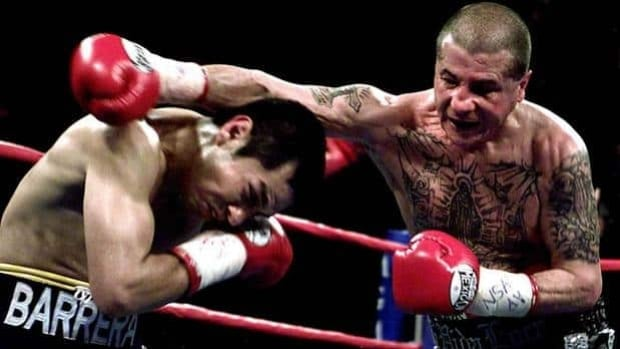 Johnny Tapia, right, was a five-time champion in three weight classes as a professional boxer.