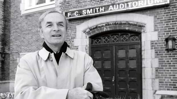 Marc Gervais in front of the F.C. Smith auditorium at Concordia University, where he screened movies for generations of film students.