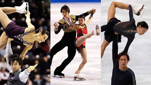 Canada's Meagan Duhamel and Eric Radford, left, China's Qing Pang and Jian Tong, centre, and Russia's Yuko Kavaguti and Alexander Smirnov figure to be in the podium mix at this week's Grand Prix Final.