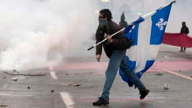 A number of protesters were injured at one particularly violent student demonstration in Victoriaville, Que., in 2012 after clashing with police.