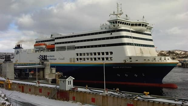 The MV Blue Puttees and two other ferries were back in service Friday on Marine Atlantic's run across the Cabot Strait.