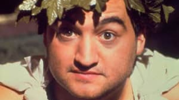 John Belushi in shown in the famous toga scene from the 1978 film Animal House.