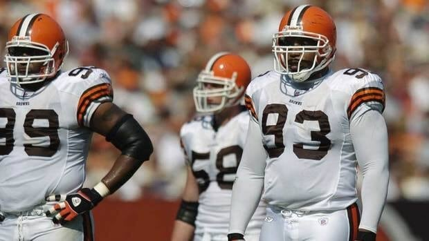 Michael Myers, right, was drafted by the Cowboys in 1998 and played six seasons for Dallas before finishing a 10-year career with the Cleveland Browns, Denver Broncos and Cincinnati Bengals.