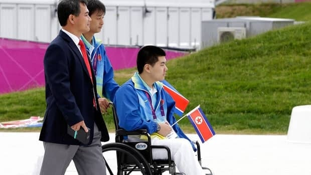 Swimmer Rim Ju Song, in wheelchair, is North Korea's lone competitor at the 2012 Paralympics in London.