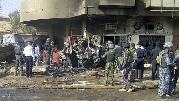 An explosion tore through a northern neighbourhood of Baghdad Wednesday morning. Altogether, 17 explosions struck Baghdad and six other cities and towns some 500 kilometres apart, from Mosul in the vast deserts of the north to Hillah in the fertile plains of the south.