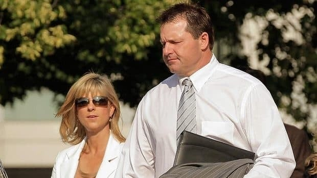 Former major league pitcher Roger Clemens is joined by his wife Debbie as they arrive at court Monday. Judge Reggie Walton said Tuesday he would allow jurors to consider one of the false statements Clemens is alleged to have made to Congress in his 2008 deposition.
