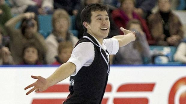 Patrick Chan performs the short program in the senior men's competition. He scored 101.33 points, more than eight points better than his world-record short program at the world championships last spring.