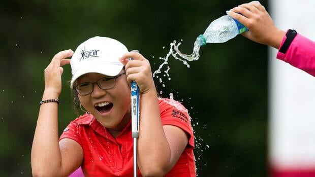 Teen Canadian Open winner Lydia Ko may have been playing hooky from school, but they still made sure it was water flowing and not champagne.