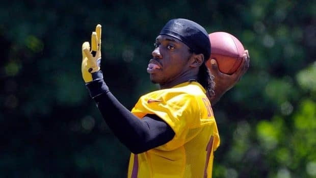 Robert Griffin III, seen at a workout on May 31, enjoyed a standout collegiate career at Baylor.