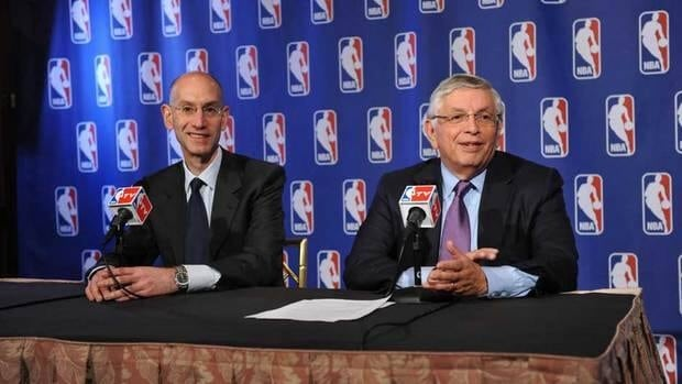 Adam Silver, left, has been the NBA's deputy commissioner since 2006.