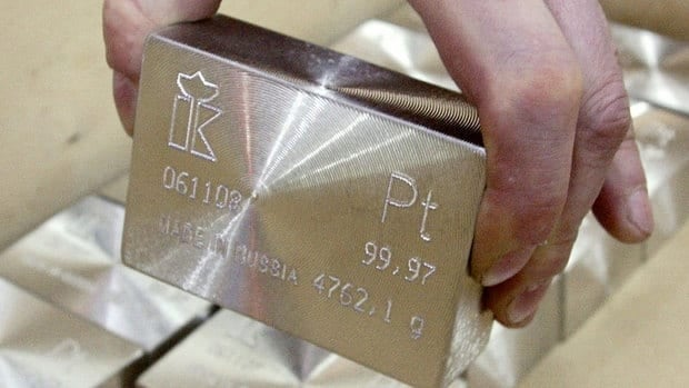South Africa mines an estimated 72 per cent of the world's platinum group metals. Next in line is Russia at 13.5 per cent, Canada at 5 per cent, Zimbabwe at 4.9 per cent, and the U.S. at 1.9 per cent.