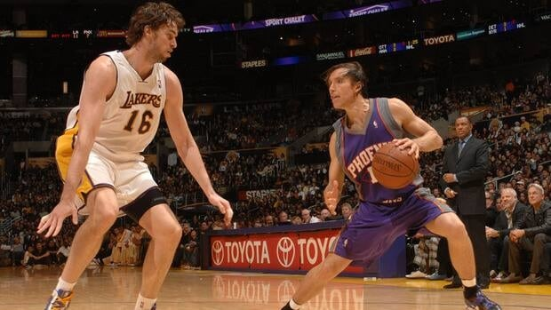 Los Angeles Lakers centre Pau Gasol is looking forward to being the recipient of some slick passes from newly acquired point guard Steve Nash instead of having to defend against him.