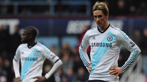 Fernando Torres of Chelsea looks on during the match between against West Ham United at the Boleyn Ground on December 1, 2012 in London, England.