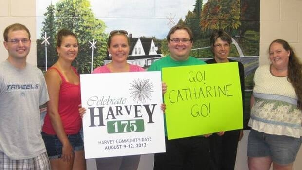 People in Pendrel's hometown of Harvey Station say, win or lose, the community is behind her.