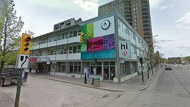 The HI Winnipeg Downtowner, at the corner of Ellice Avenue and Kennedy Street is being put up for sale.