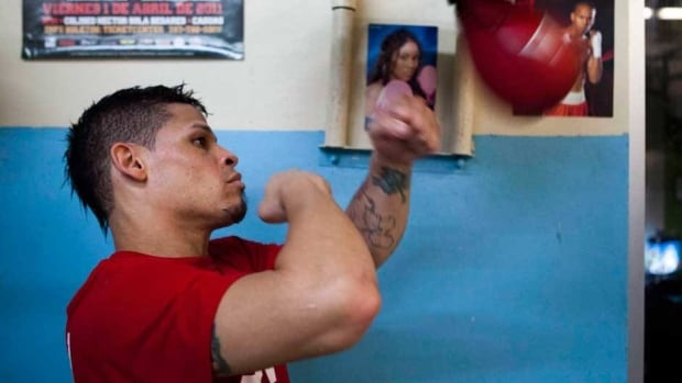 Boxer Orlando Cruz, shown in this file photo, won his first fight since publicly declaring his homosexuality.