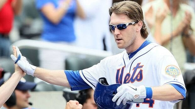 Mets manager Terry Collins suggested recently that a pair of concussions outfielder Jason Bay, shown here, has sustained in three seasons with the club have been a factor in his poor performance in 2012.