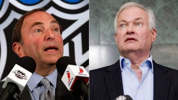NHL commissioner Gary Bettman, left, and the league delivered a comprehensive new CBA proposal to NHLPA executive director Donald Fehr and the players' union.