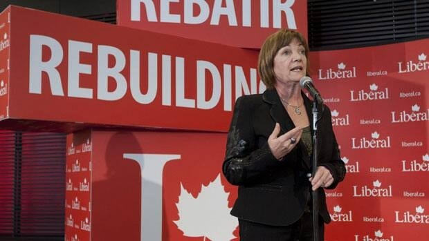 Sheila Copps, one of the candidates for presidency of the Liberal party, speaks to the media Friday.