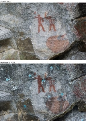 Kootenay Lake pictographs vandalized