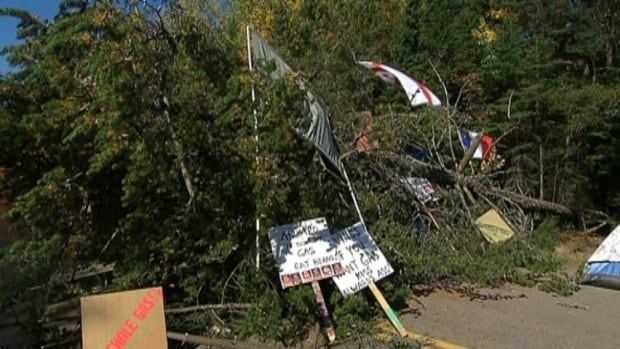 Barricade on Route 134