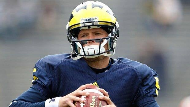 Former Michigan quarterback Tate Forcier completed 60 per cent of his passes for 2,647 yards with 17 touchdowns and 14 interceptions for the Wolverines.