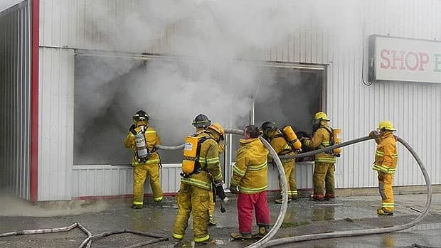 The Shop Easy Foods in Grandview burned down Wednesday.