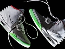 Justin Bieber's right Yeezy could fetch more than $7,000 Cdn on Ebay.