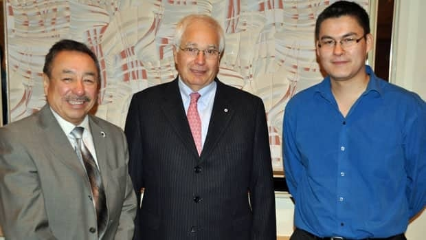 Grand Chief Stan Beardy of Nishnawbe Aski Nation, former Ontario lieutenant-governor James Bartleman and Stephan Kudaka of Diversity Thunder Bay were at a recent breakfast marking the International Day for the Elimination of Racial Discrimination.