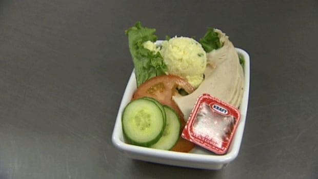 A sample of a lower-sodium meal served at Queen Elizabeth Hospital in Charlottetown.