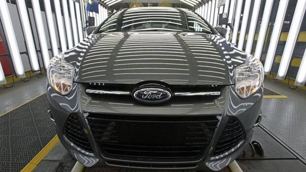 Ford Canada said Wednesday its sales of light trucks and cars, including the Focus, shown above, were up three per cent in 2011 compared with the year earlier.
