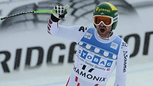 Klaus Kroell used a fast bottom section to win the downhill at Chamonix.