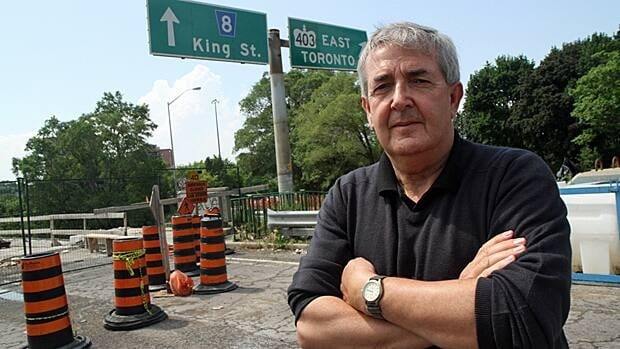 Researcher Denis Corr says when it comes to air quality, highways pose a great risk to our health. (Samantha Craggs/CBC)