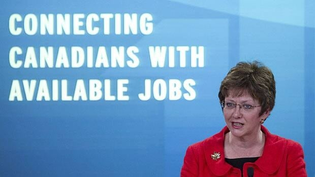 Human Resources Minister Diane Finley, shown at an event in May where she announced changes to Employment Insurance, today announced a new panel to study how to increase the participation of people with disabilities in the private sector labour force.