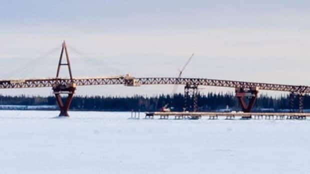 The two spans of the Deh Cho Bridge have been joined, now providing a year-round permanent link between the North Slave and South Slave regions of the Northwest Territories.