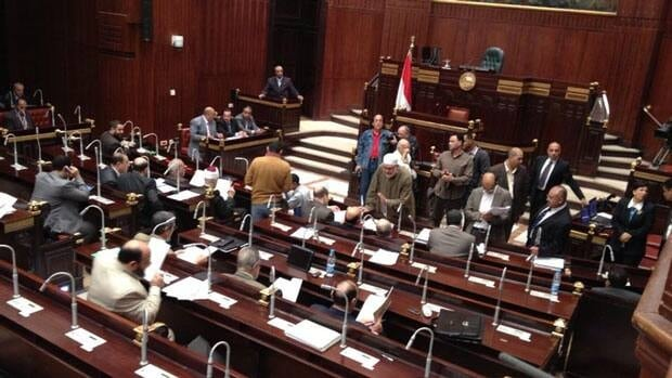 Egypt's assembly gathers to vote on a new constitution, a move that President Mohammed Morsi hopes will cool tensions in the country.