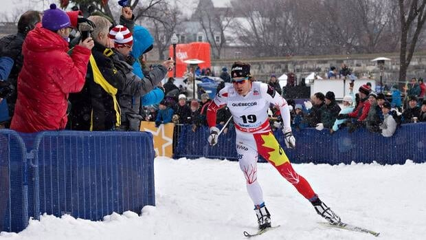 Canada's Alex Harvey, shown here competing in Quebec last weekend, finished 11th in Canmore, Alta. on Thursday.