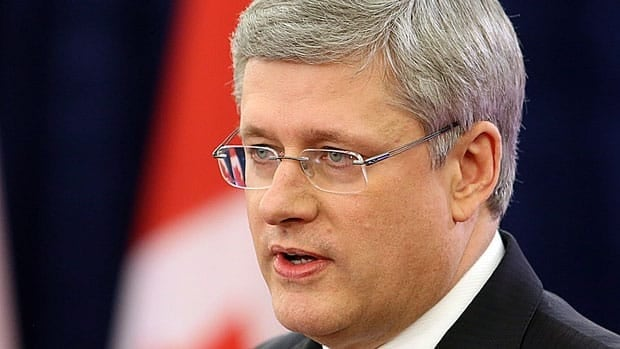 Prime Minister Stephen Harper said he had to stop watching coverage of the shootings last week at a Connecticutt school, in a year-end interview with French-language broadcaster TVA.