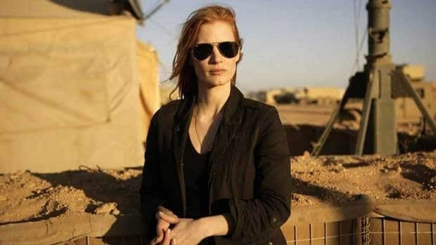 In Kathryn Bigelow's Zero Dark Thirty, actress Jessica Chastain plays a member of an elite team of spies and military operatives stationed in a covert base overseas and secretly devoted to finding Osama bin Laden.