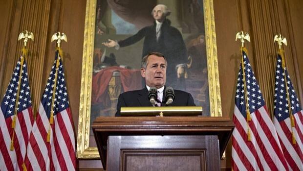 House Speaker John Boehner, a Republican, speaks at the Capitol in Washington on Nov. 7.