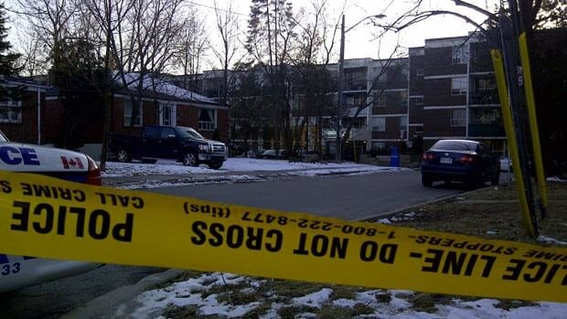 Two bodies were found Monday in the parking garage of a building at 325 Bogert Ave.